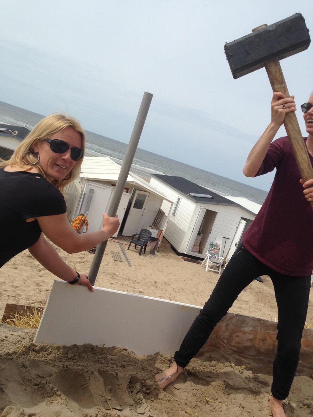 beschoeiing plaatsen strandhuisje