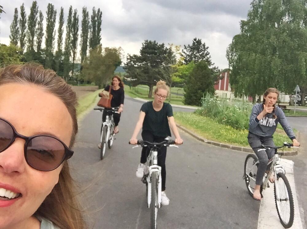 fietsen op de camping