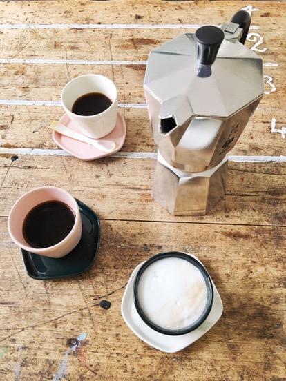 verse koffie met de percolator