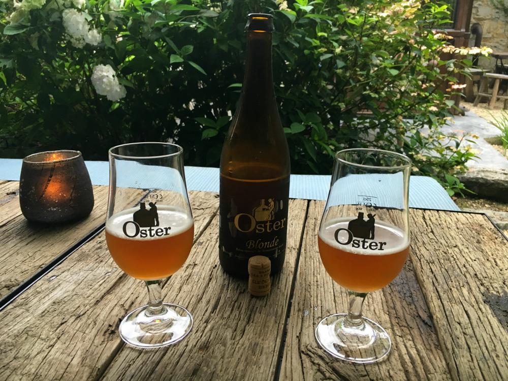 Oster bier bij restaurant Sept in Durbuy