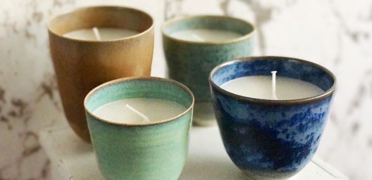 Winnen: handmade kaarskopjes van Lilo