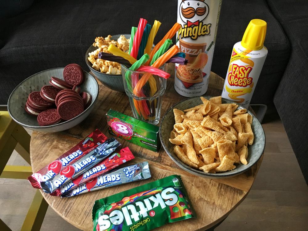 Amerikaanse snacks verzameling
