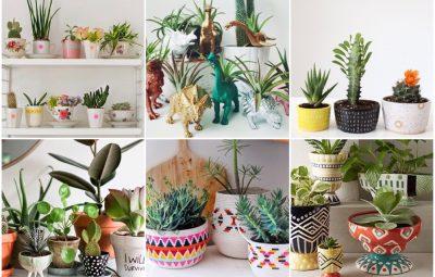 vrolijke plantenpotten