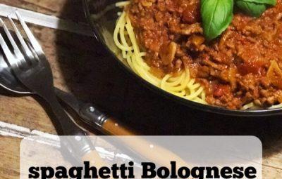 slowcooker recept: spaghetti bolognese