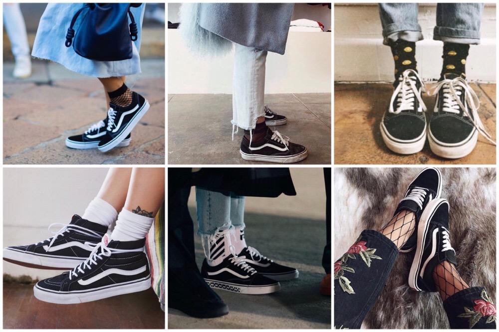 Zwarte VANS met sokken