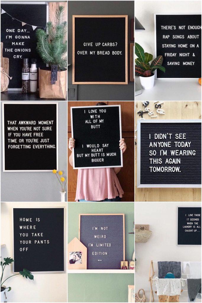15 x de leukste letterbord quotes