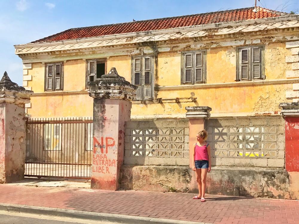 huizen in Scharloo in Curacao