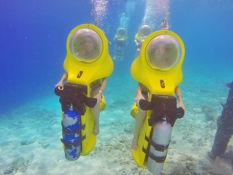onderwatertocht scooters