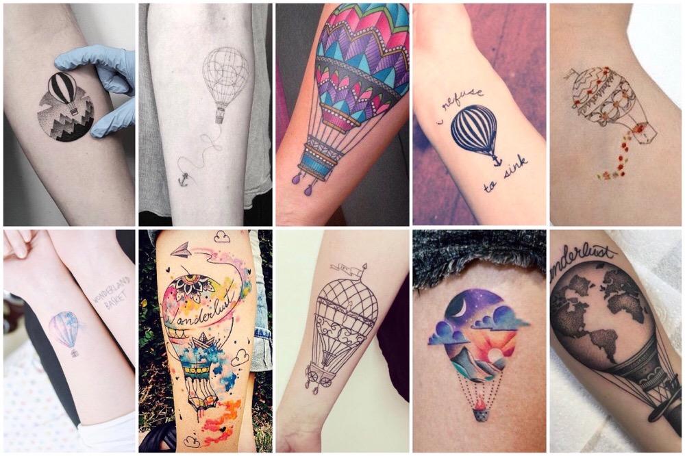 luchtballon tattoo
