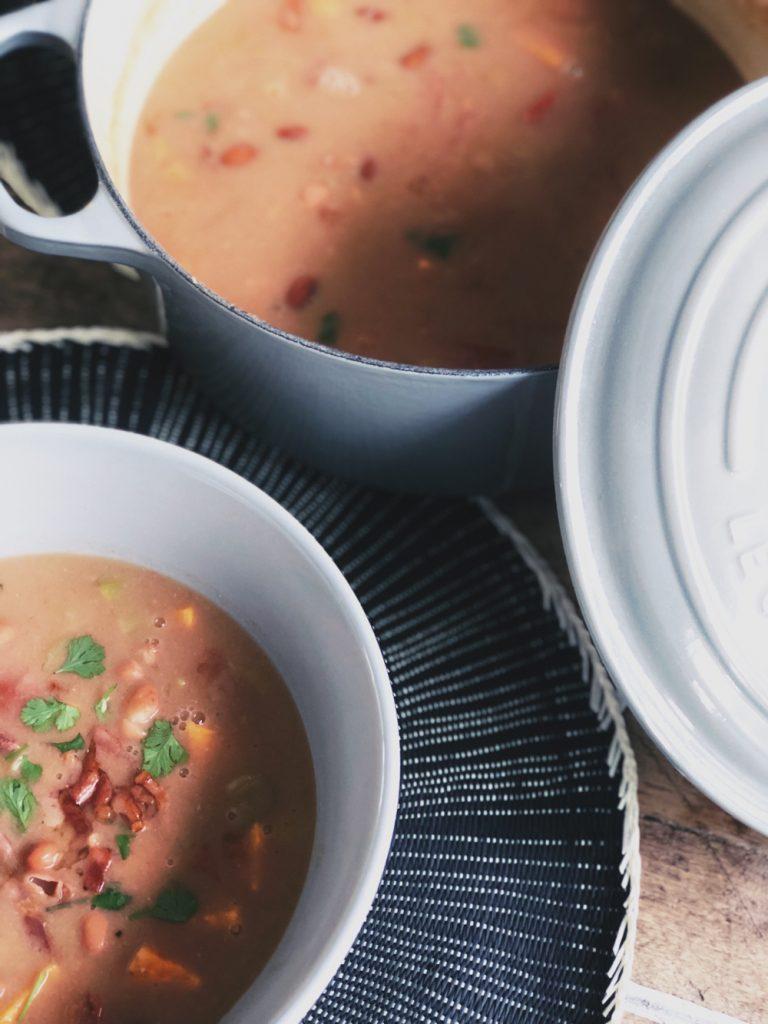 bruinebonensoep recept