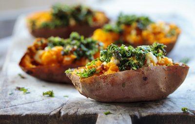 gepoft zoete aardappel