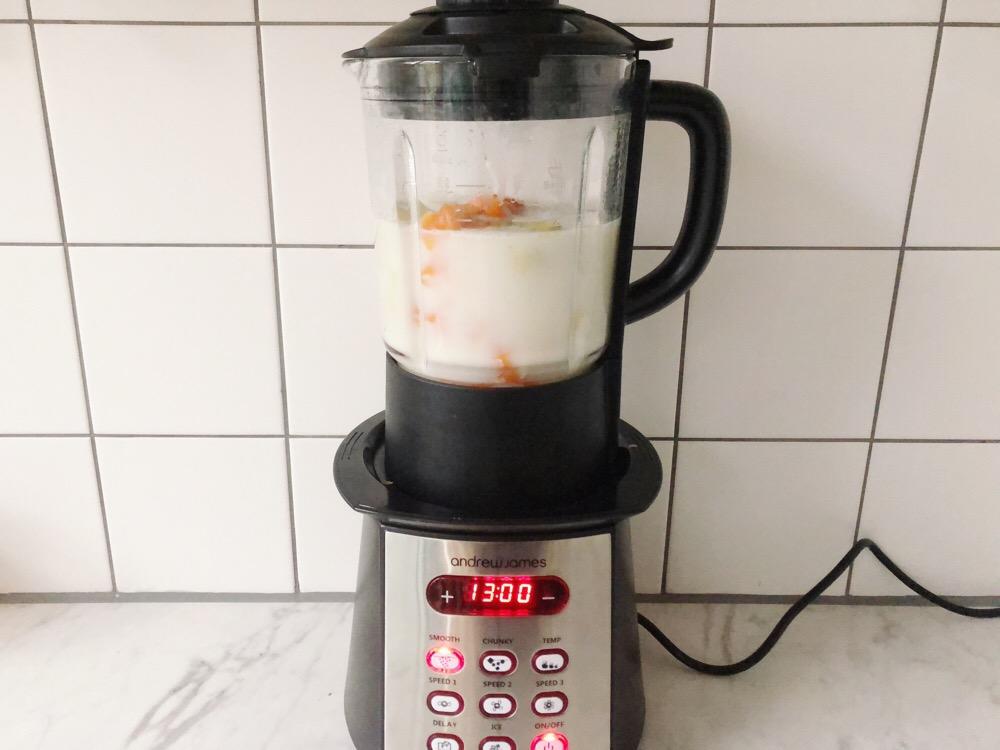 soupmaker soep met pompoen en venkel