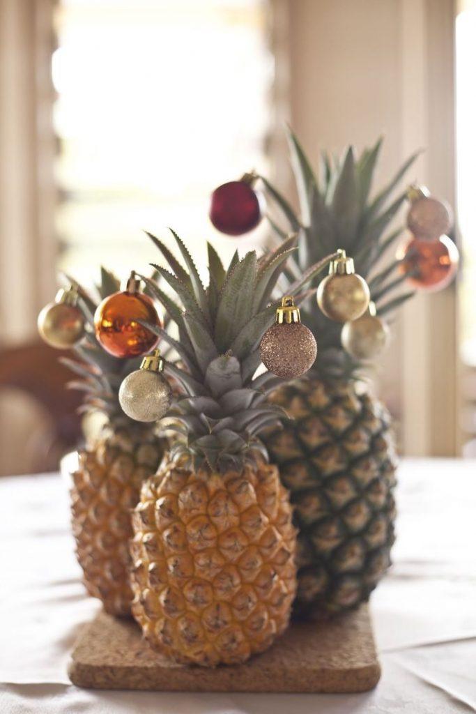 ananas met kerst