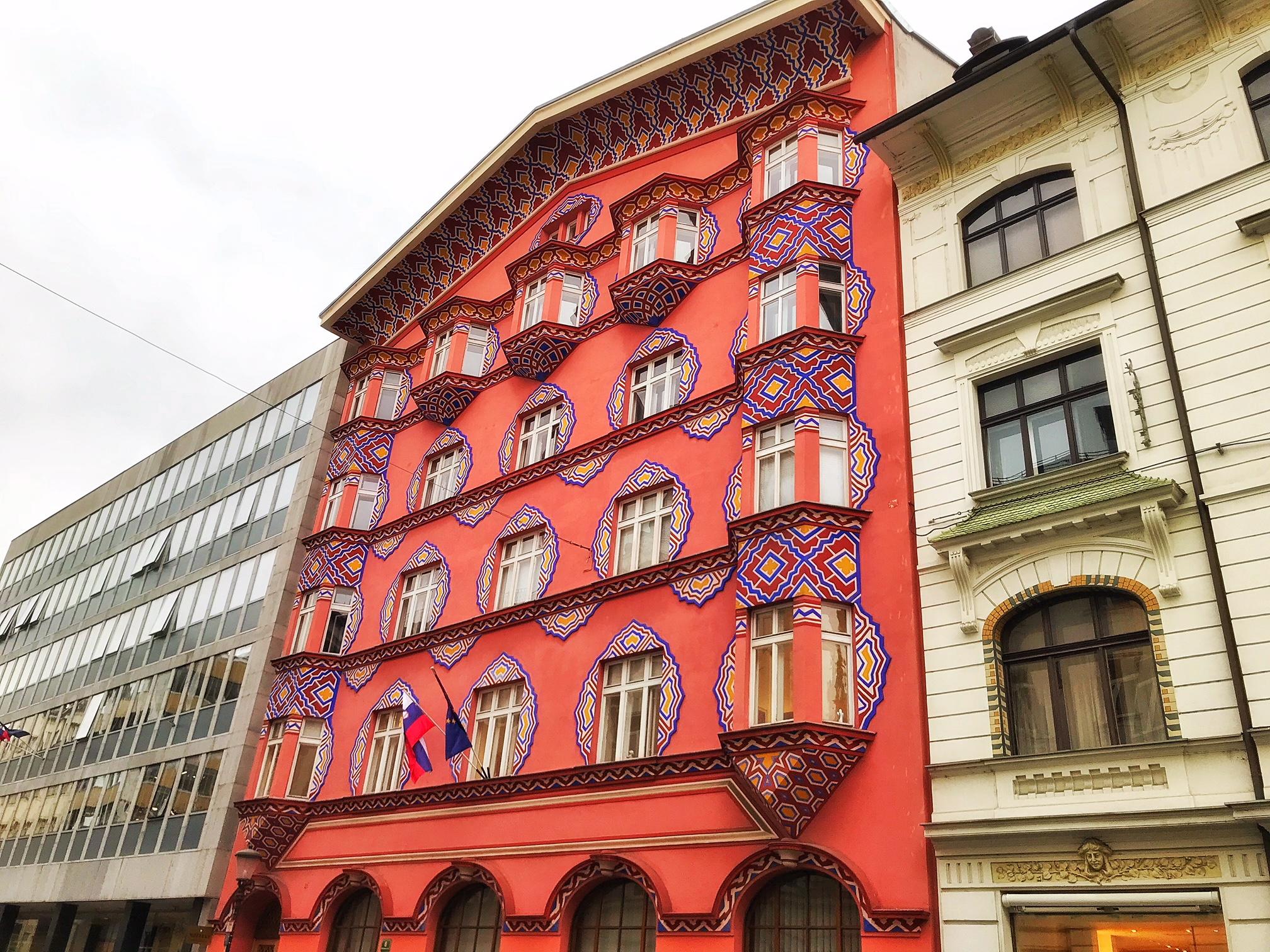 barok gebouw ljubljana