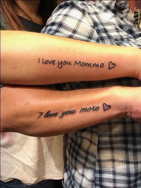 mom daughter tattoos