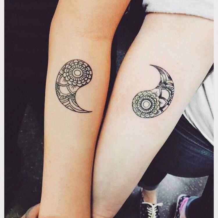 ying yang tattoo paisley