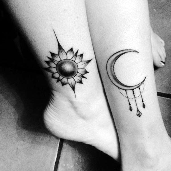zon maan tattoos