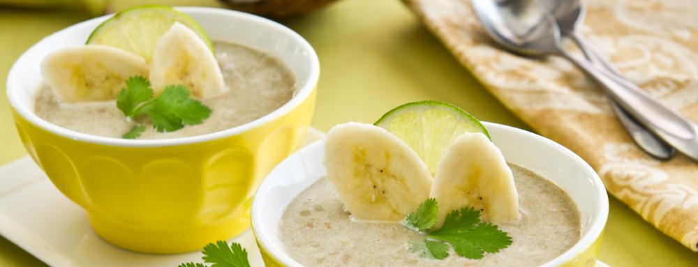 Slowcooker recept: mild pittige bananensoep