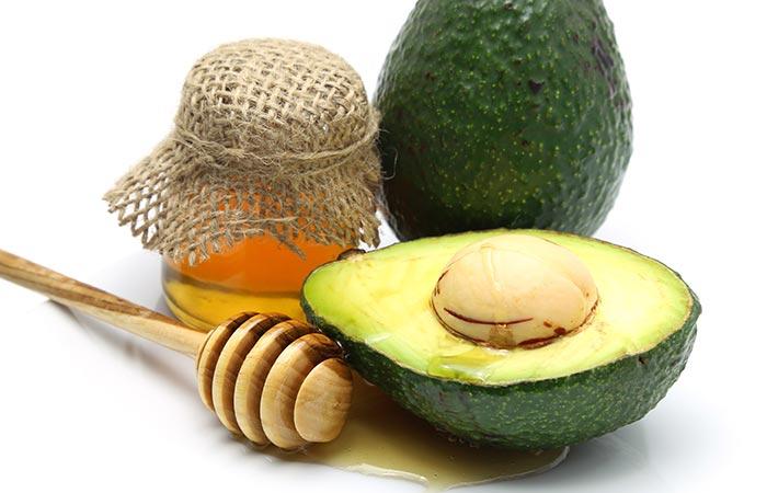 haarmasker met honing en avocado