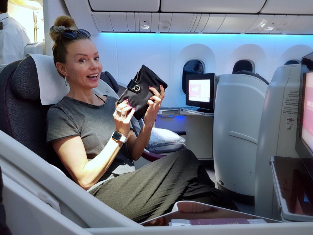 upgrade in het vliegtuig