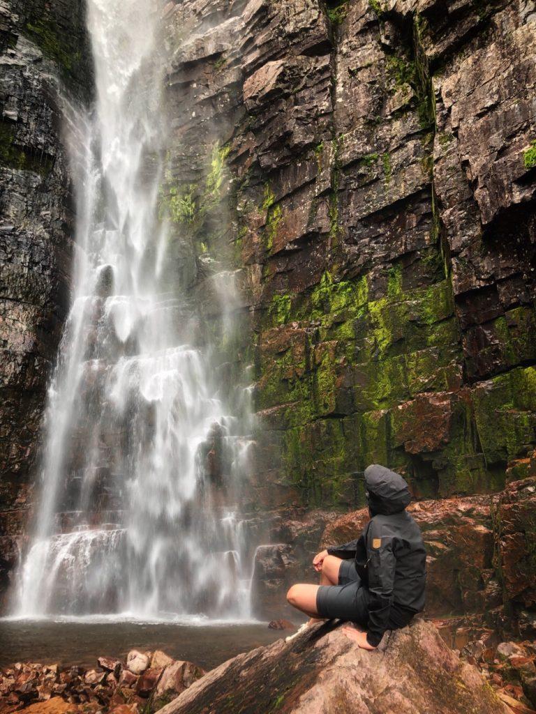 National park Fulufjället waterfall
