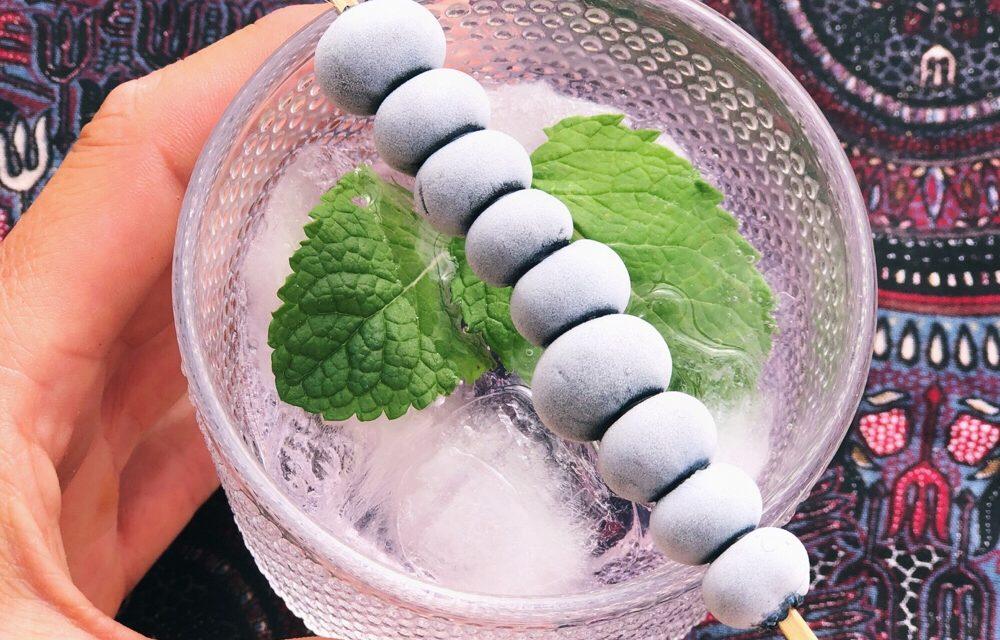 Nóg een gin tonic recept: met bevroren blauwe bessen en munt