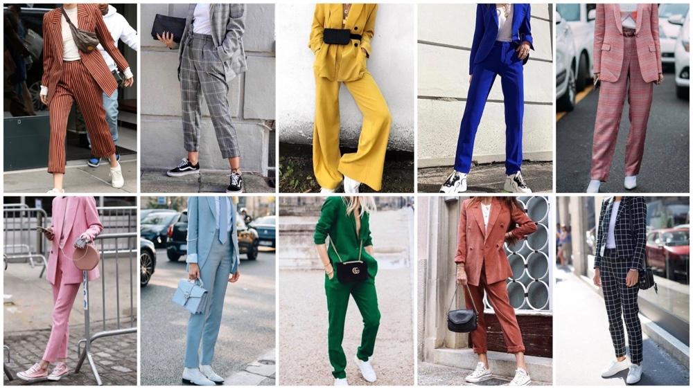 Fashiontrend: damespak, in zwart, gekleurd of print