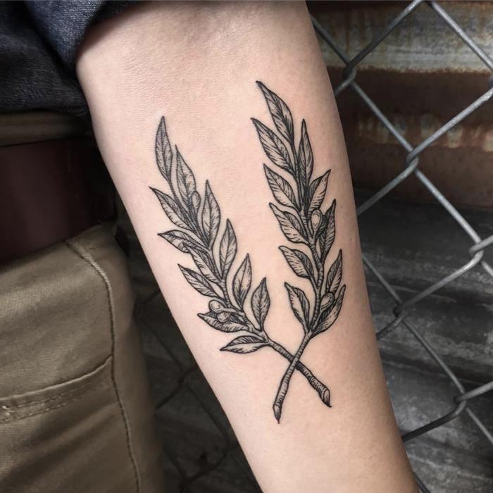 De Betekenis Van Olijftak Tattoos 24x Inspiratie One