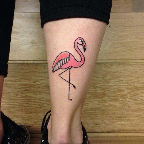 schattige flamingo tattoo voorbeelden