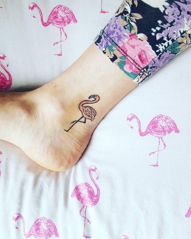 flamingo tattoo enkel voorbeelden