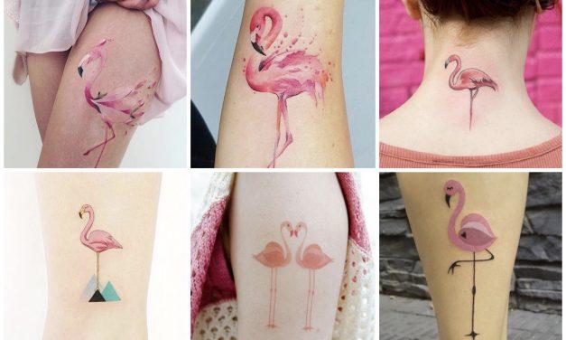 30+ geweldige flamingo tattoos (en de betekenis)
