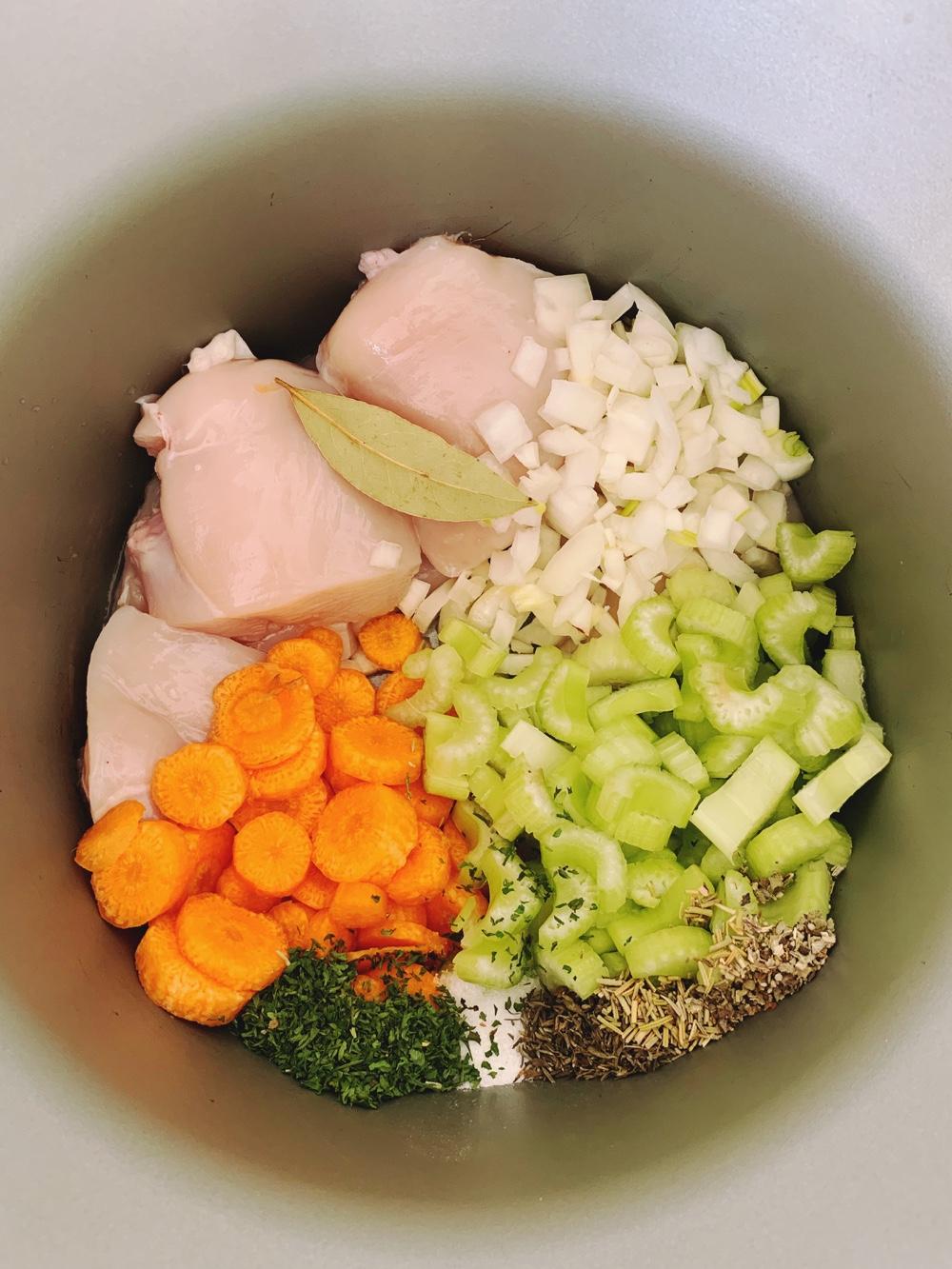 ingredients kruidige kippensoep