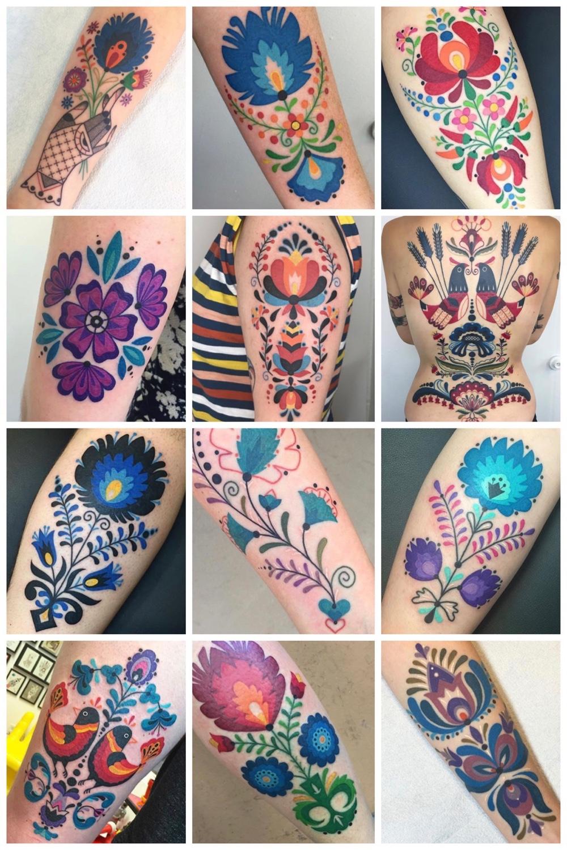 12x folk art tattoos van Winston the Whale