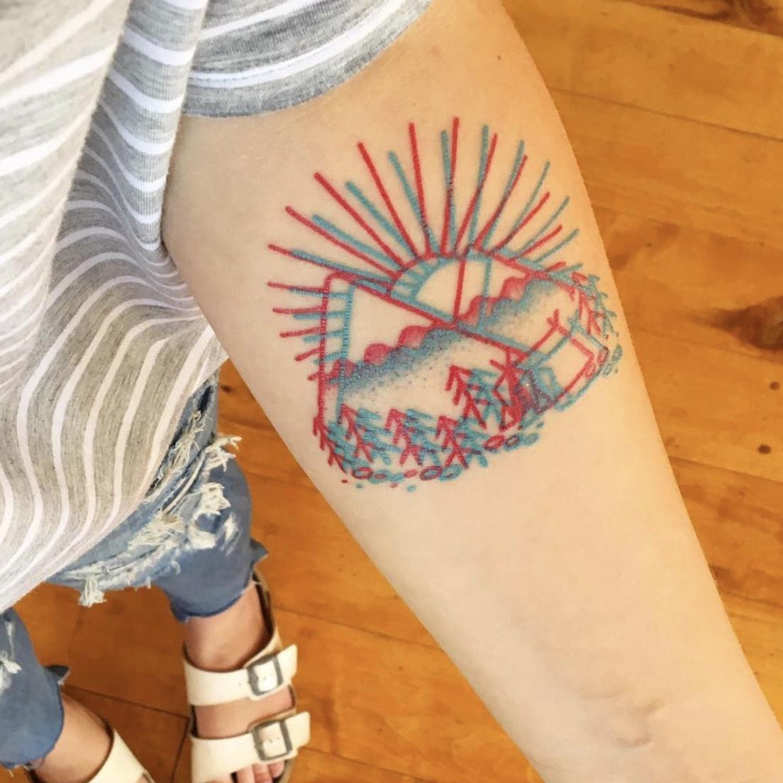 3d travel tattoo