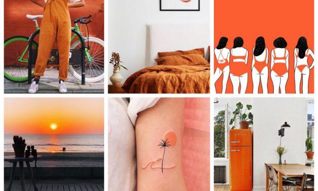 Weekend finds 16: trendy oranje kleuren palet