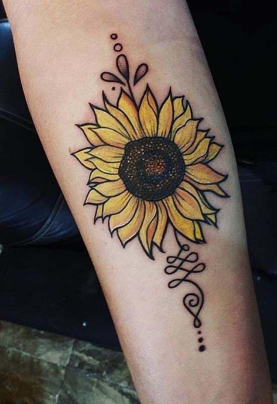 zonnebloem tattoos