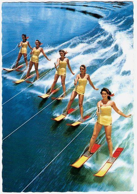 retro waterski foto