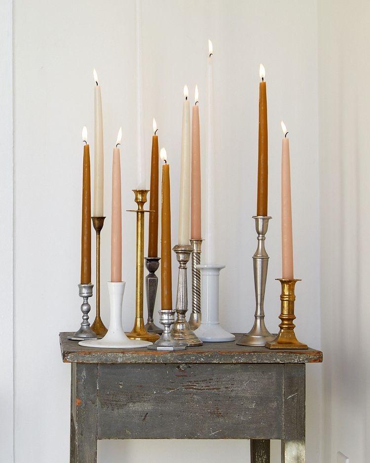 kaarsen in de winter