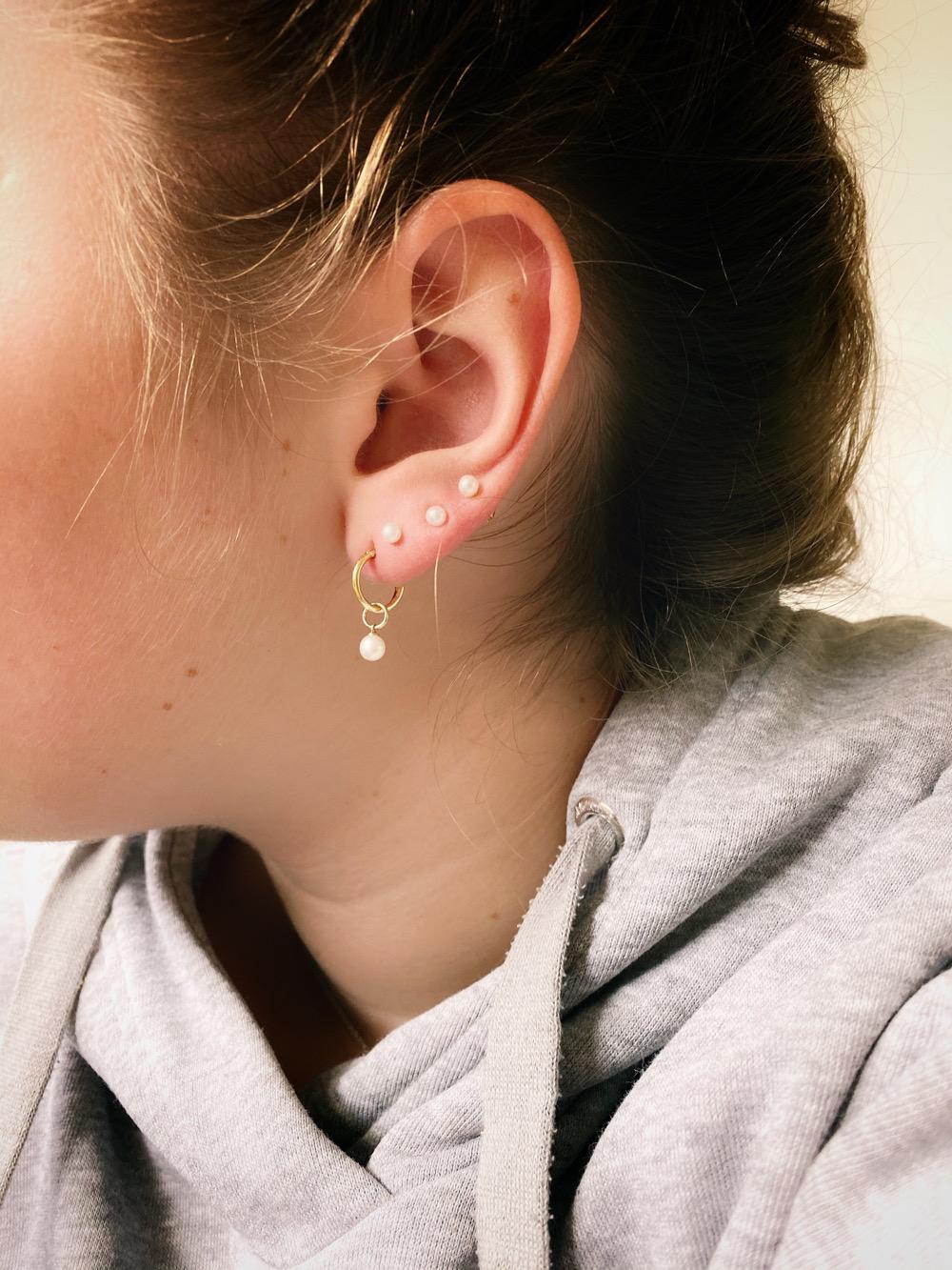parel oorbellen