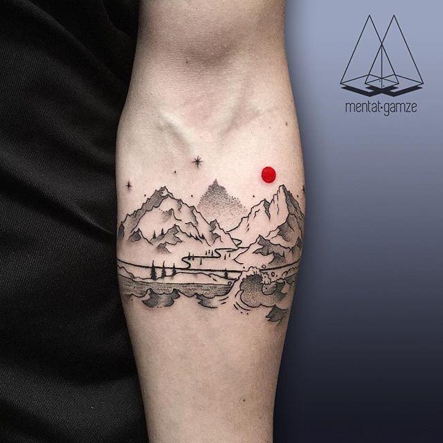 red moon tattoo