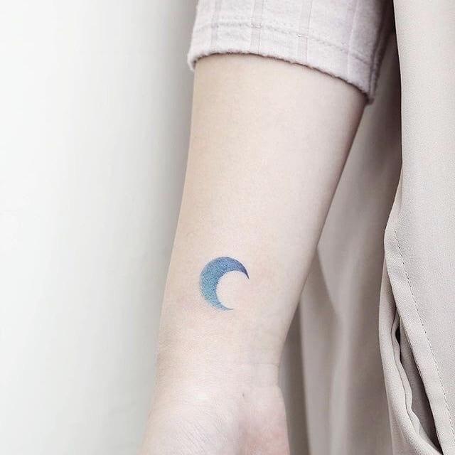 blue moon tattoo
