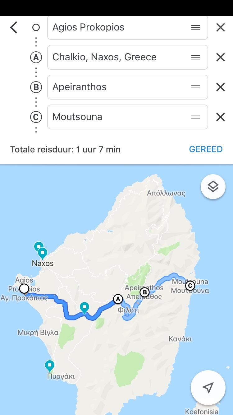 Roadtrip op Naxos