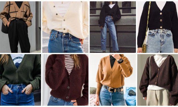 "Fashionpost 63: korte cardigan  ""tucked in"""